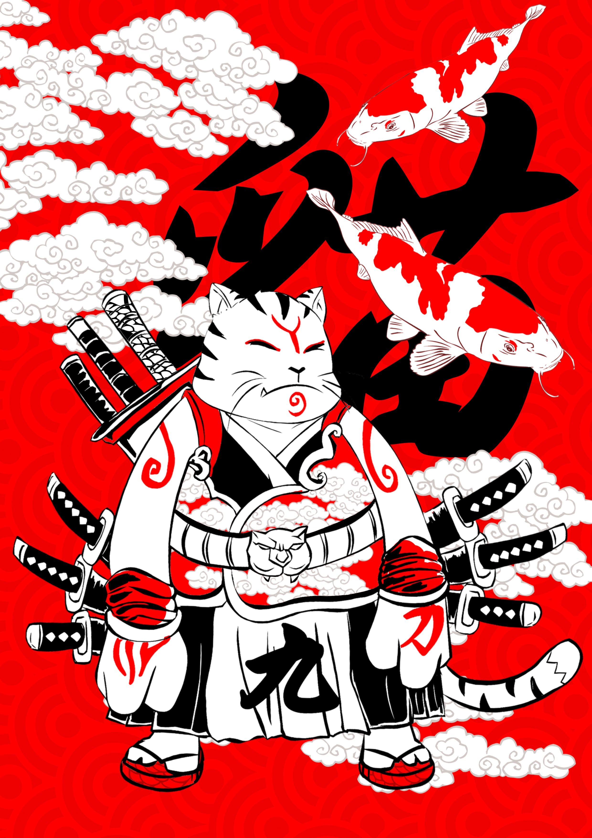 9 swords samuraicat-min